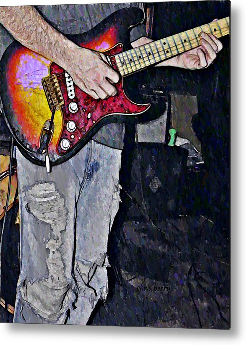 Music Metal Print featuring the photograph Strat Man by Chris Berry