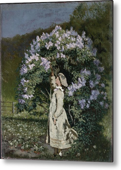 Ovr371683 Metal Print featuring the photograph The Lilac Bush by Olaf Isaachsen
