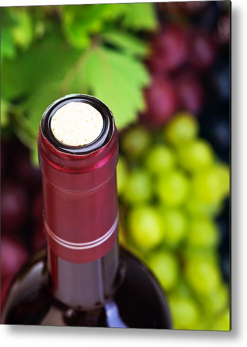 Depth Of Field Metal Print featuring the photograph Cork Of Wine Bottle by Anna Om