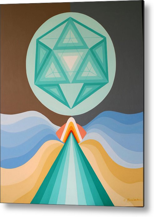 Abstract Art Metal Print featuring the painting Crystal by Elsbeth Buschmann