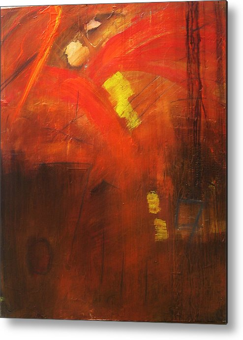 Abstract Metal Print featuring the painting Ego Trip by Carrie Allbritton
