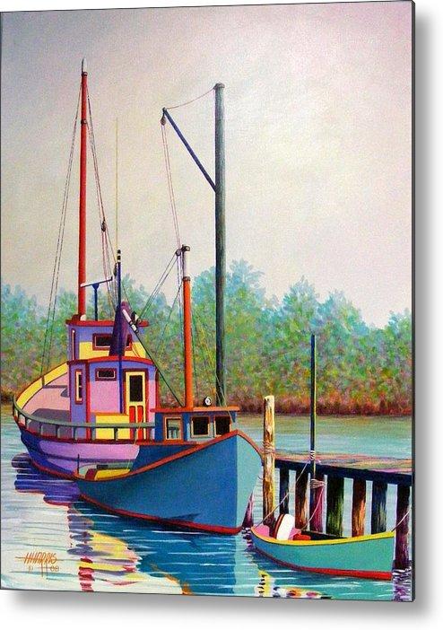 Landscape Metal Print featuring the painting Fancy Fleet by Hugh Harris