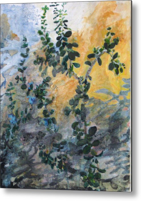 Garden Metal Print featuring the painting Jade by Alicia Kroll