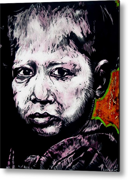Metal Print featuring the mixed media Little Rosita by Chester Elmore