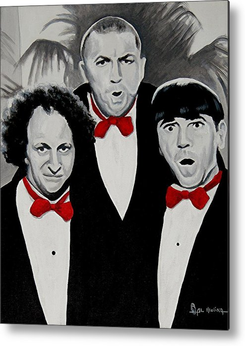 Actor Metal Print featuring the painting Oh Wise Guys Aye by Al Molina