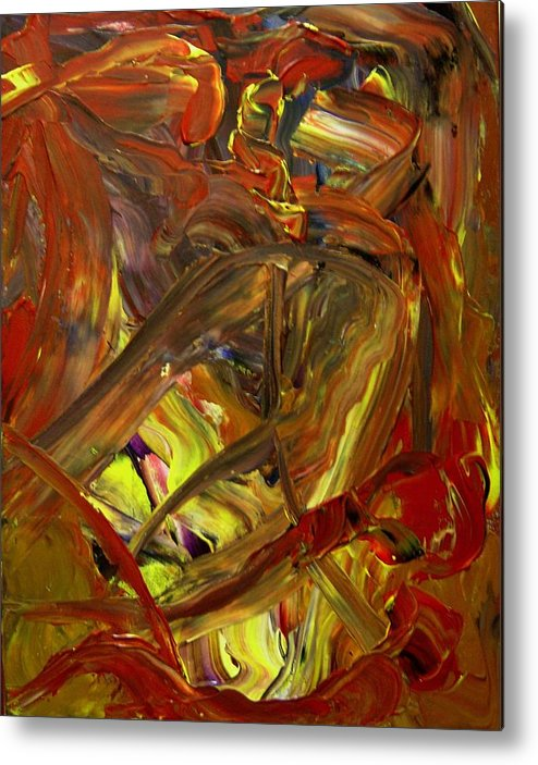 Abstract Metal Print featuring the painting Ripe Reverence by Karen L Christophersen