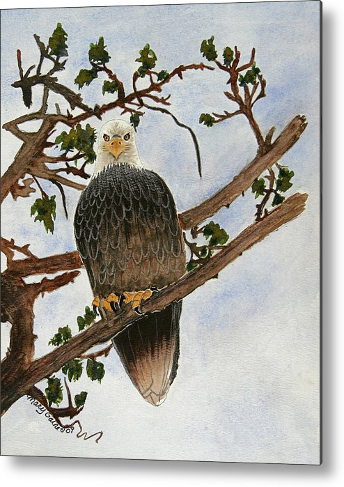 Eagle Metal Print featuring the painting The Sentinel by Mary Gaines