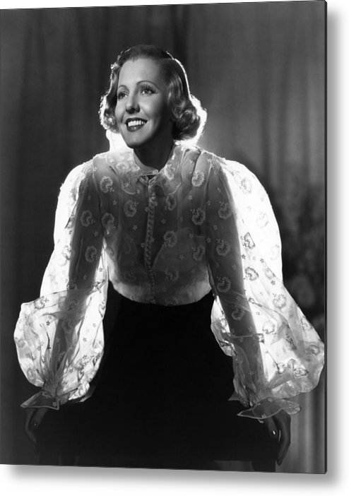 1930s Movies Metal Print featuring the photograph The Whole Towns Talking, Jean Arthur by Everett