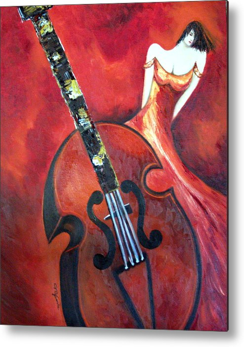 Music Metal Print featuring the painting Ve La Musica by Niki Sands