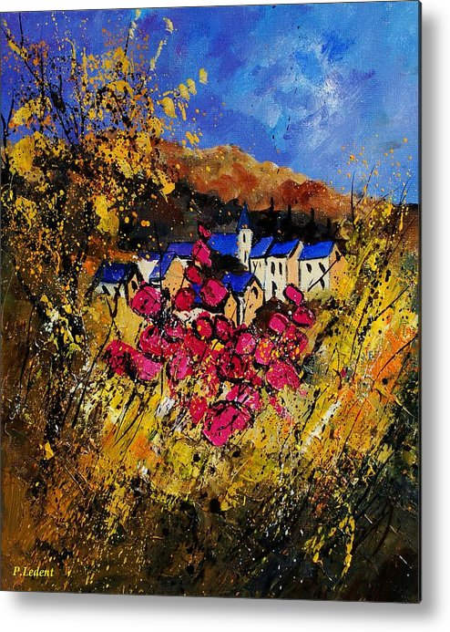 Flowers Metal Print featuring the painting Village 450808 by Pol Ledent