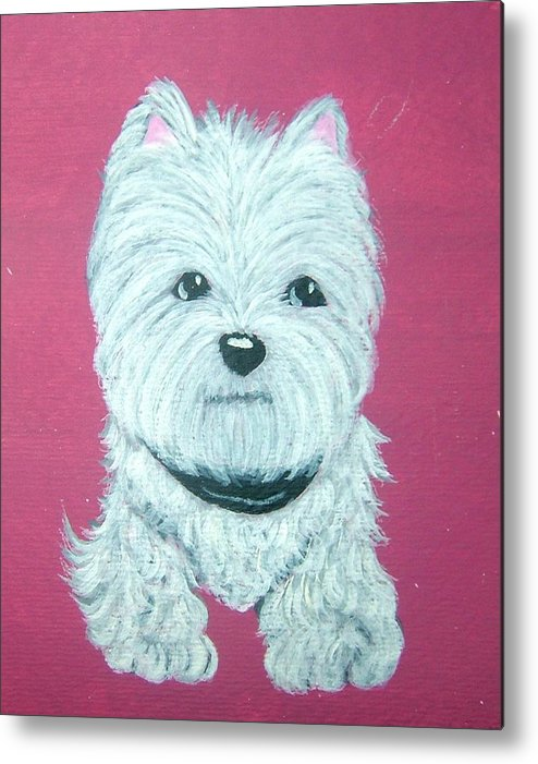 West Highland Terrier Metal Print featuring the painting Westie by Tammy Brown