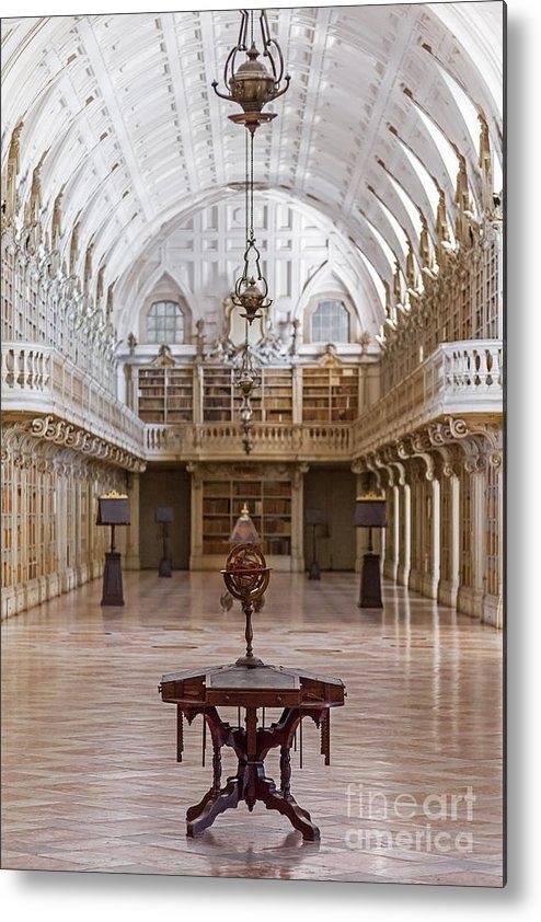 Baroque Metal Print featuring the photograph Baroque Library by Jose Elias - Sofia Pereira
