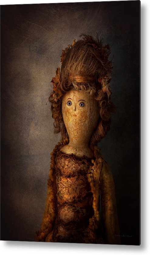 Halloween Metal Print featuring the photograph Creepy - Doll - Matilda by Mike Savad