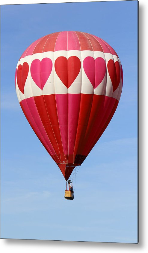 Balloon Fiesta Metal Print featuring the photograph Love Is In The Air by Mike McGlothlen