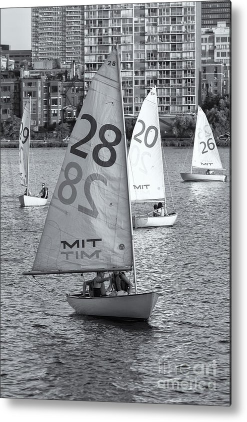 Clarence Holmes Metal Print featuring the photograph Sailboats On The Charles River II by Clarence Holmes