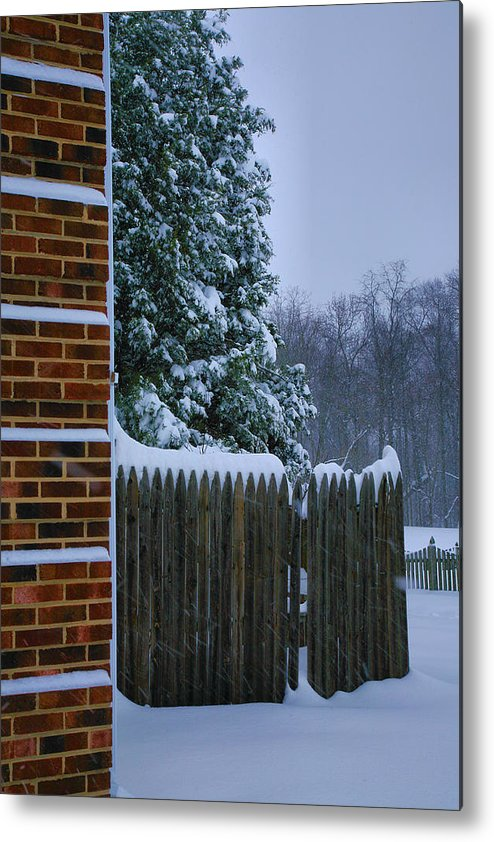 Snow Metal Print featuring the photograph Snowy Corner by Steven Ainsworth