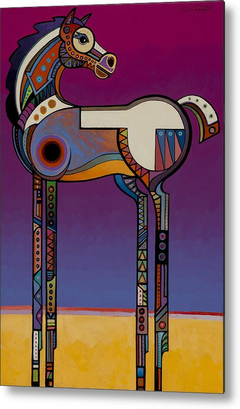 Animal Art Metal Print featuring the painting Spirit Horse by Bob Coonts