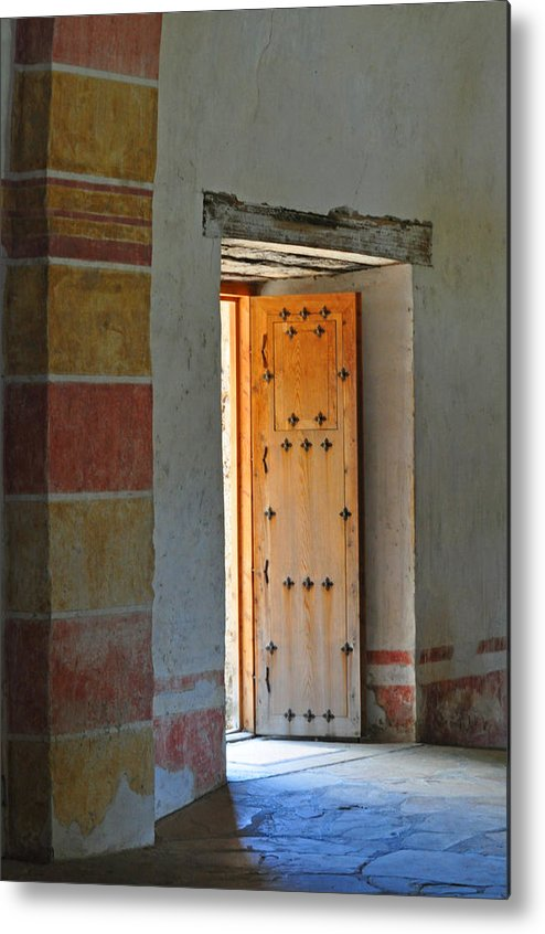 Door Metal Print featuring the photograph Enter Life by Peter McIntosh