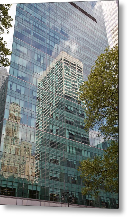Metal Print featuring the photograph Nyc Reflection 1 by Art Ferrier
