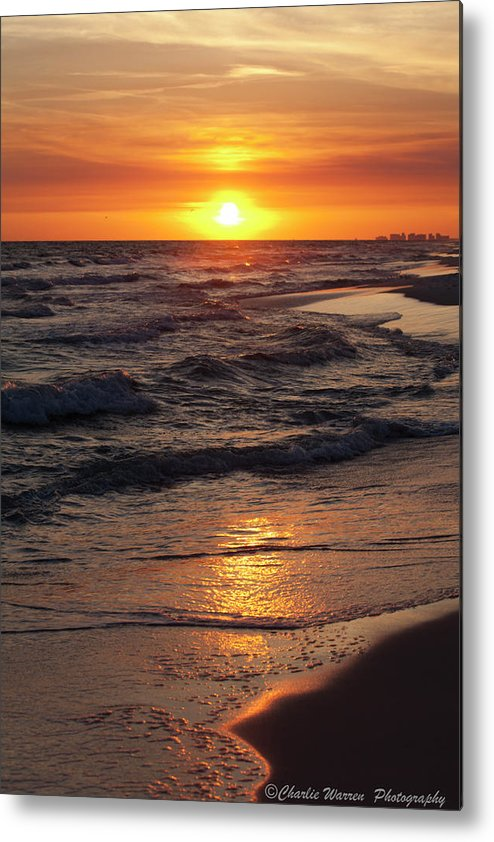 Sunset Metal Print featuring the photograph Seaside Serenade I by Charles Warren