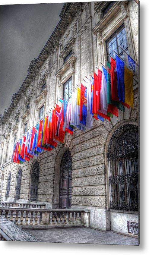 Prague Czech Republic Metal Print featuring the digital art World Flags by Barry R Jones Jr
