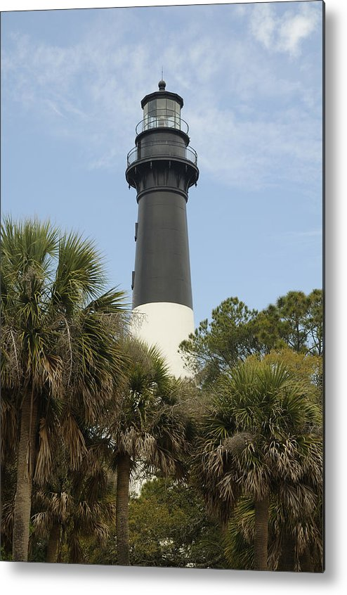Hunting Island Metal Print featuring the photograph Hunting Island Lighthouse by Darrell Young