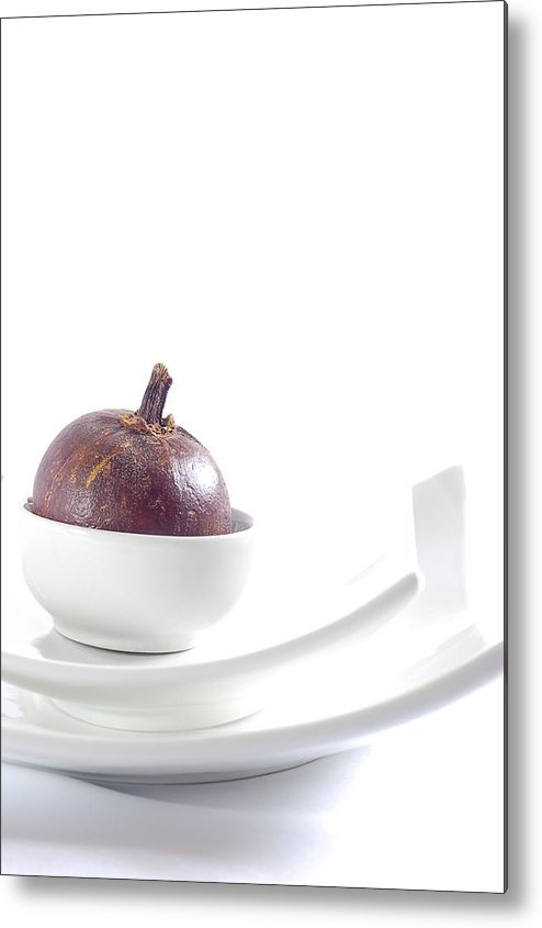Mangosteen Metal Print featuring the photograph Mangosteen by Evia Nugrahani Koos