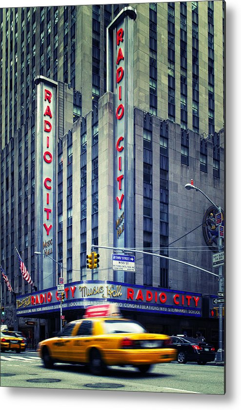 Ny Metal Print featuring the photograph Nyc Radio City Music Hall by Nina Papiorek