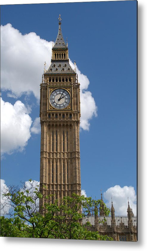 Big Ben Metal Print featuring the photograph Palace Of Westminster by Chris Day