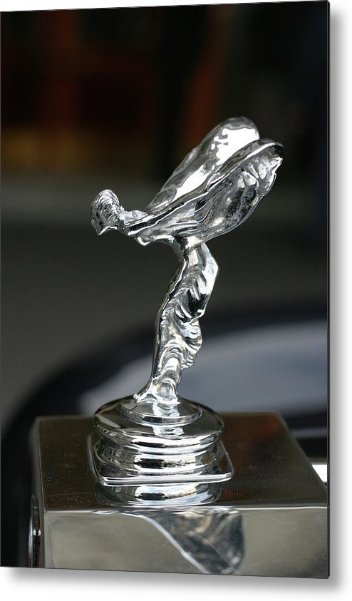 Luxury Metal Print featuring the photograph Rolls Royce Hood Ornament by Carl Purcell