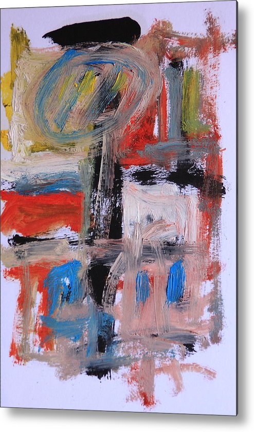 Abstract Metal Print featuring the painting Abstract 7202 by Michael Henderson
