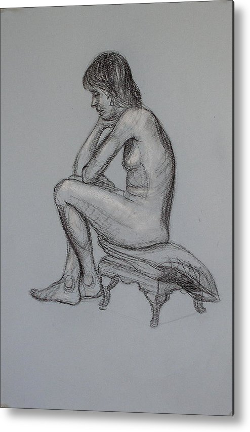 Realism Metal Print featuring the drawing Aroona 1 by Donelli DiMaria