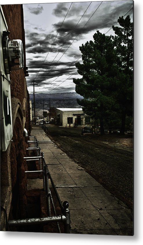 City Metal Print featuring the photograph Back Street by HE Webb