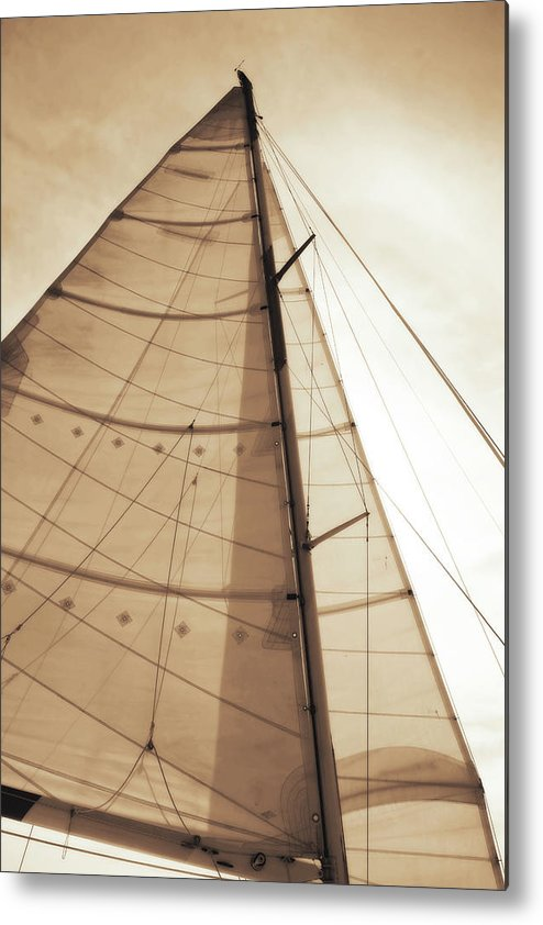 Photo Metal Print featuring the photograph Beaufort Sails 1 by Alan Hausenflock