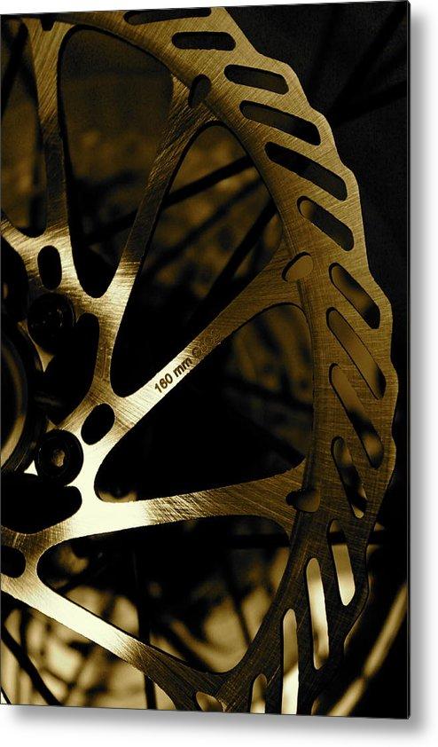 Bike Metal Print featuring the photograph Bike Brake by Angie Wingerd