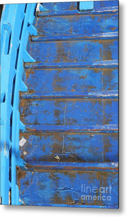 Venice Metal Print featuring the photograph Blue Boat In Venice by Michael Henderson