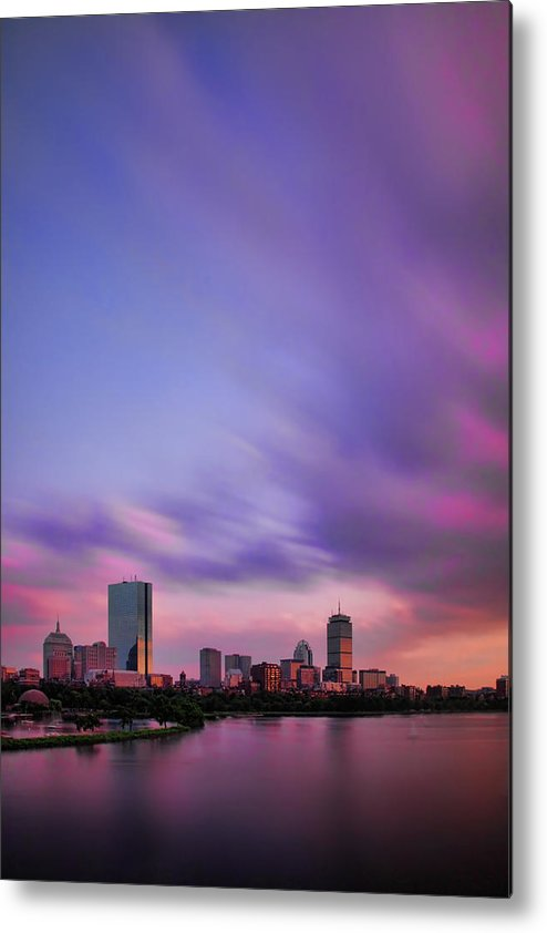 Boston Metal Print featuring the photograph Boston Afterglow by Rick Berk