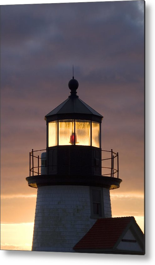 Krauzyk Metal Print featuring the photograph Brant Point Lanthorn - Nantucket by Henry Krauzyk