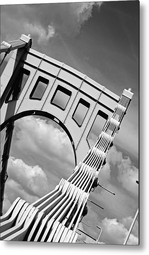 Pittsburgh Metal Print featuring the photograph Bridge Top Pittsburgh Pa by Kristen Vota