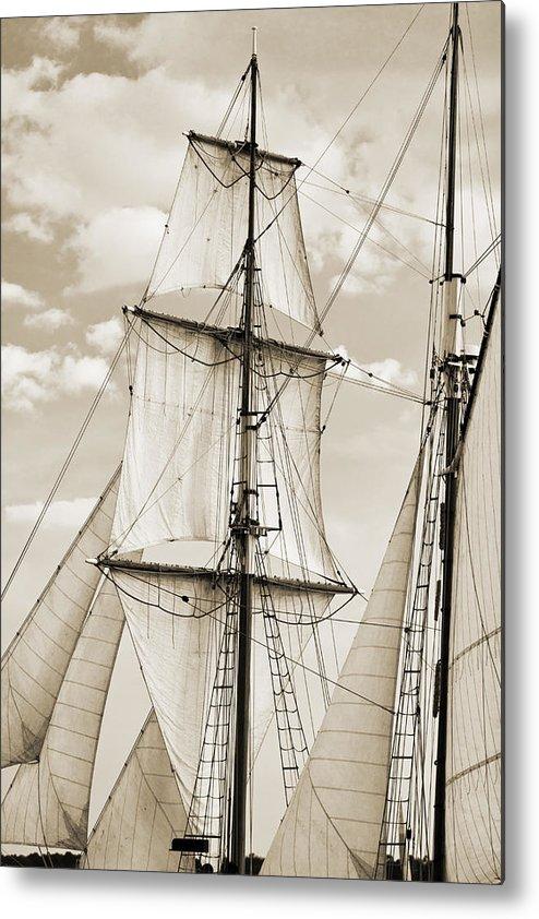 Brigantine Metal Print featuring the photograph Brigantine Tallship Fritha Sails And Rigging by Dustin K Ryan