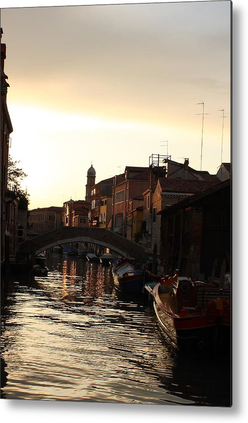 Venice Metal Print featuring the photograph Canal In Venice At Sunset by Michael Henderson