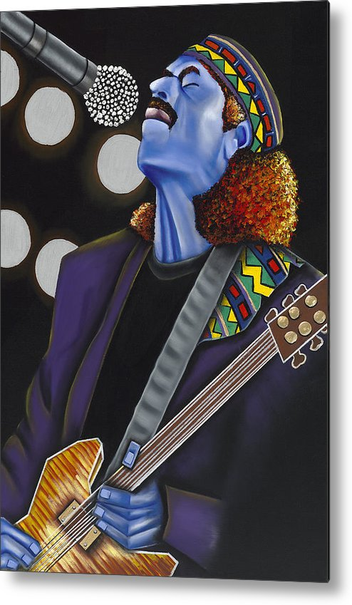 Portrait Metal Print featuring the painting Carlos by Nannette Harris