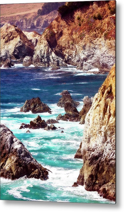 Photo Metal Print featuring the photograph Carmel Highlands 8 by Alan Hausenflock