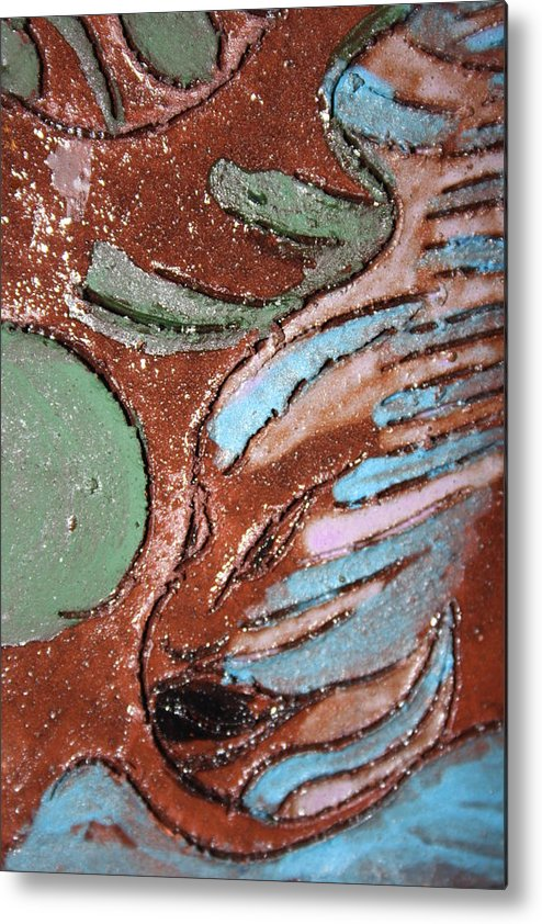 Gloria Ssali Metal Print featuring the painting Carnival Tile by Gloria Ssali