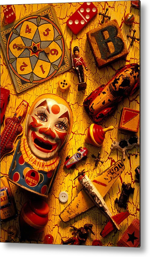 Toy Metal Print featuring the photograph Childhood Toys by Garry Gay