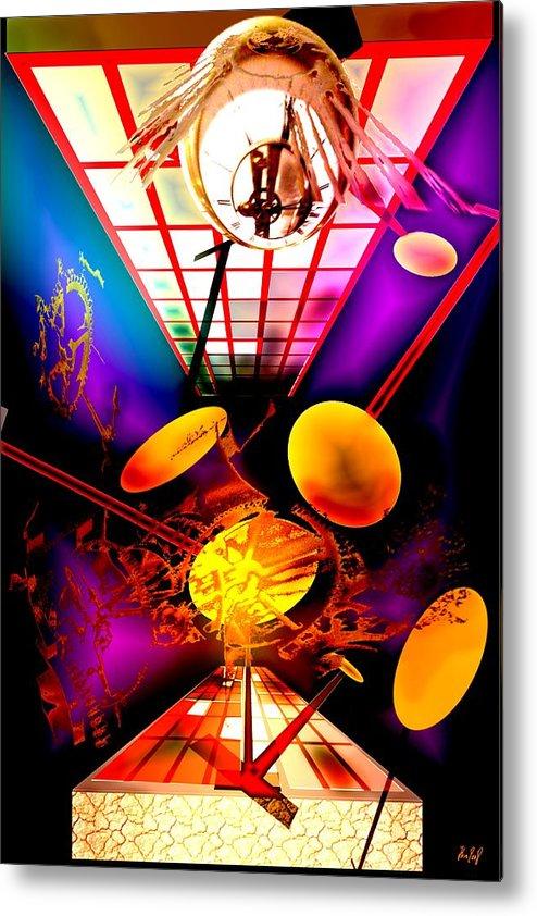 Clock Metal Print featuring the digital art Clock-sync by Helmut Rottler