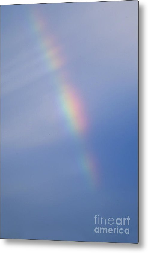 Rainbow Metal Print featuring the photograph Colored Sky by Pit Hermann