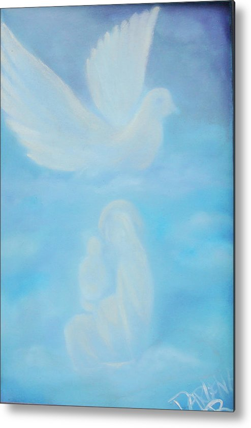 Dove Metal Print featuring the painting Come Unto Me by Darlene Green