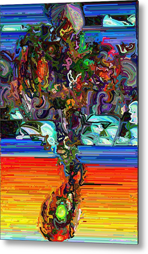 Modern Metal Print featuring the digital art Digital Flowers by Paul Gavin