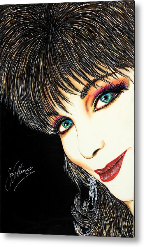 Actress Metal Print featuring the mixed media Diva Nasty by Joseph Lawrence Vasile
